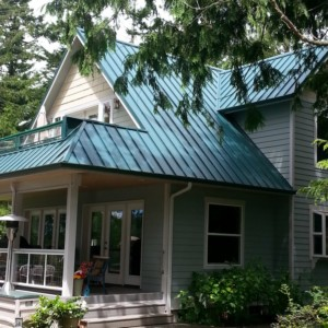 Steep Metal Roof Cleaning In Anacortes, WA